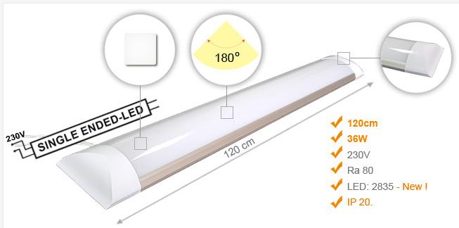Jihočeská reklama Lineární LED Osvětlení (IP20) ECONOMIC / 36 W - 120 cm