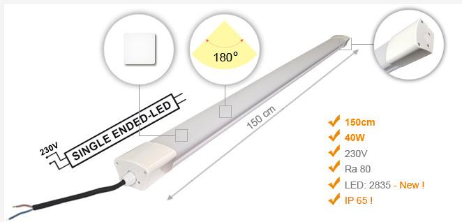Jihočeská reklama Lineární LED Osvětlení (IP65) STANDARD / 40 W - 150 cm