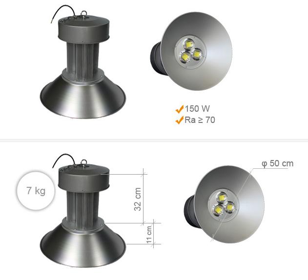 Jihočeská reklama Průmyslové LED osvětlení -High Bay- 150 W