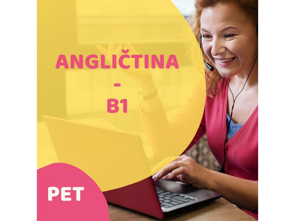 On-line Angličtina Středně pokročilí B1 (PET) dopolední