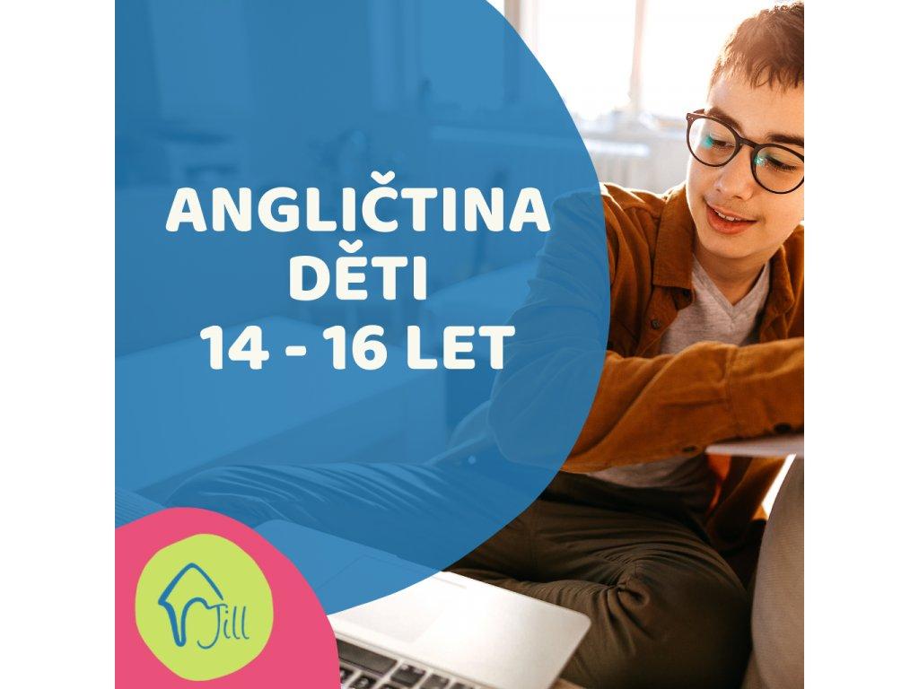 On-line Angličtina děti 14-16 let odpolední