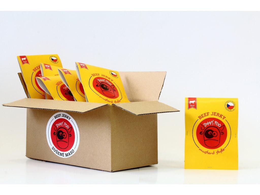 Sušené maso 25 g - hořčičné hovězí (krabice)