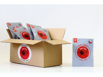 Sušené maso 25 g - chilli hovězí (krabice)