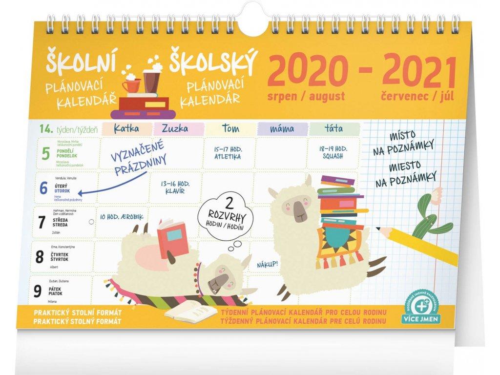 Školní plánovací kalendář s háčkem 2021, 30 × 21cm
