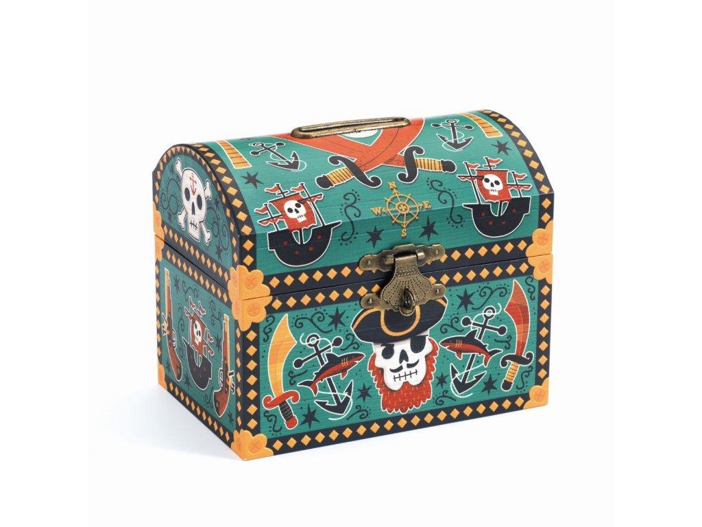 Kasička - Pirátská truhla pokladů