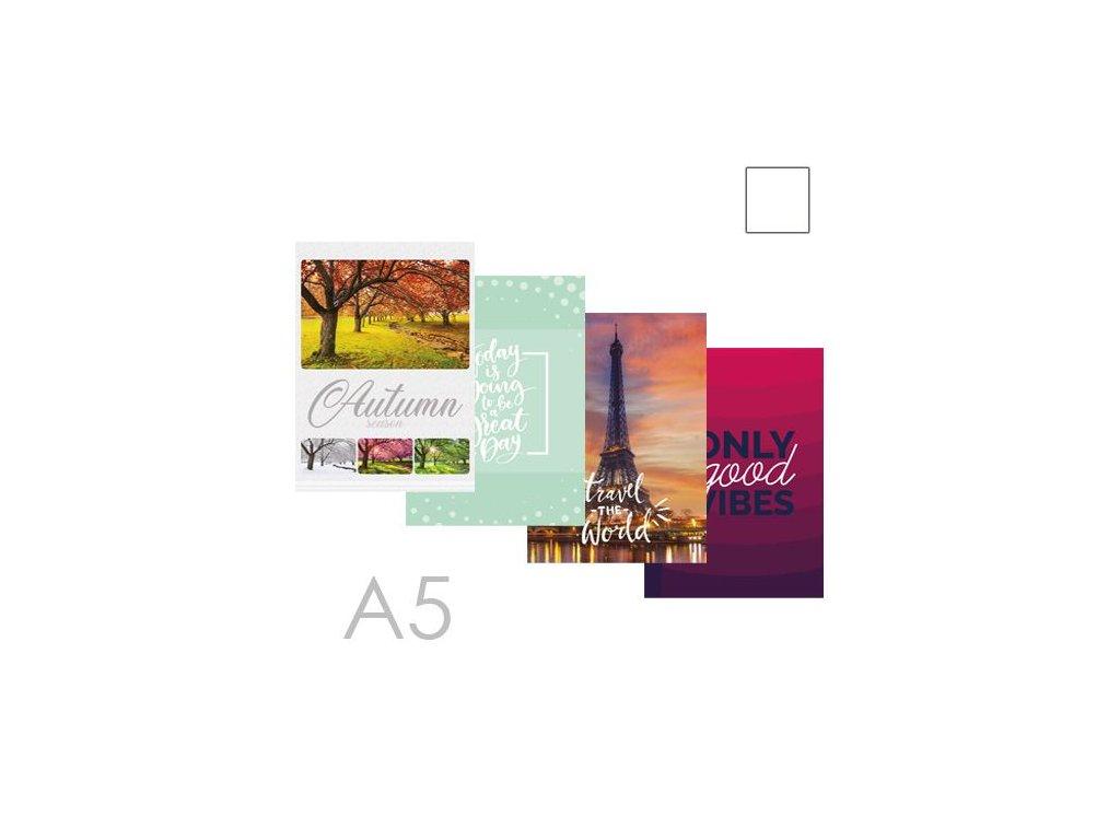 Kniha záznamová bez linek A5 (96-listová)