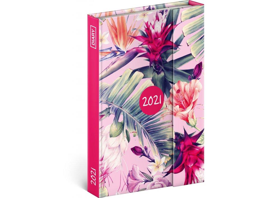 Týdenní magnetický diář Tropické listy 2021