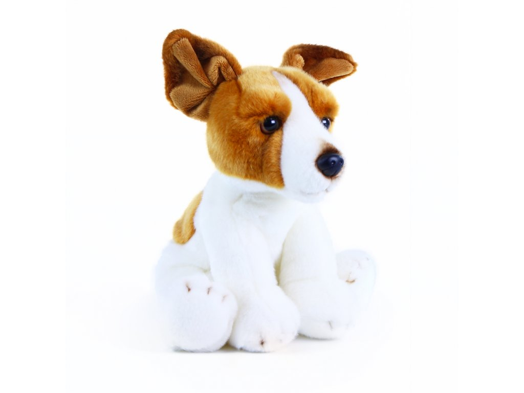 Plyšový pes Jack Russell teriér 26 cm