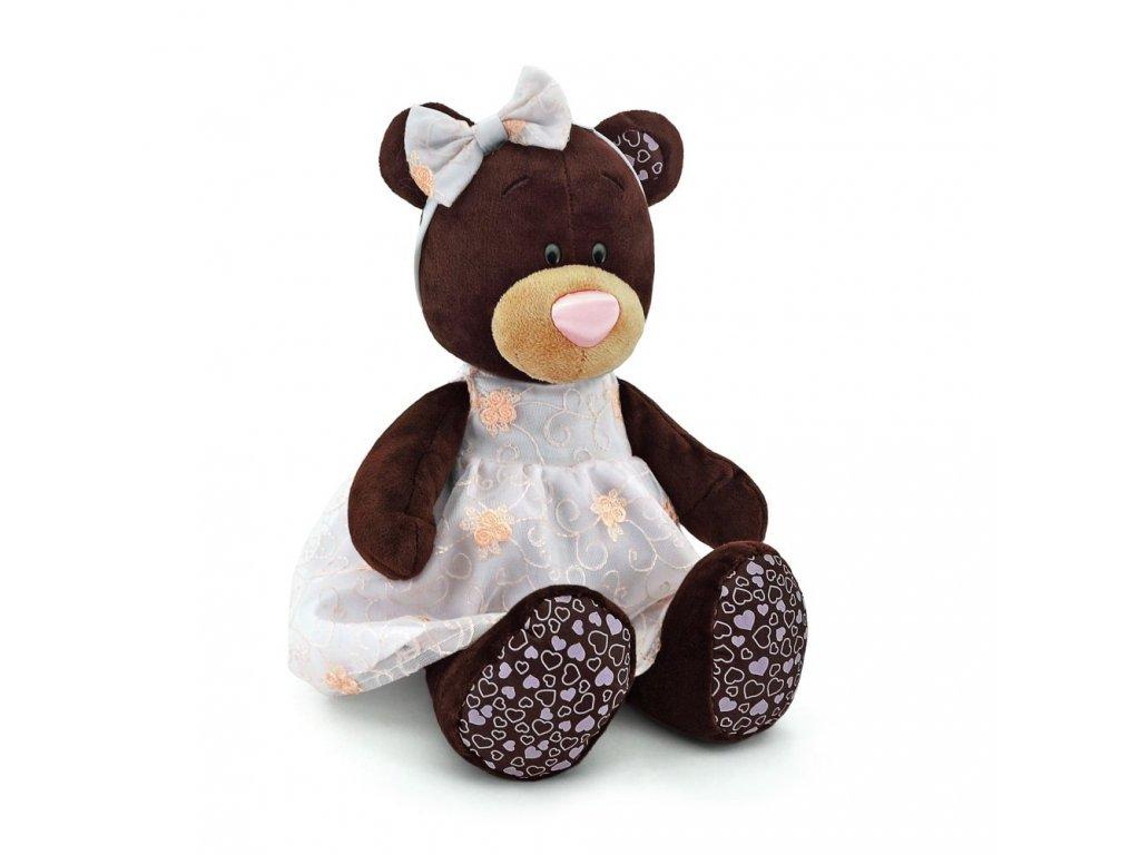Medvídek MILK RŮŽOVÉ ŠATY stojící (35 cm)