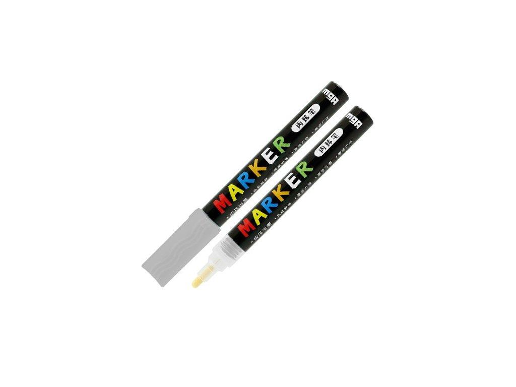 Popisovač M & G Acrylic Marker 2 mm akrylový,Silve