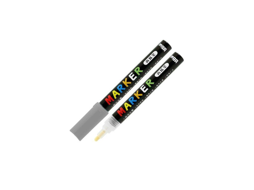 Popisovač M & G Acrylic Marker 2 mm akrylový,Grey