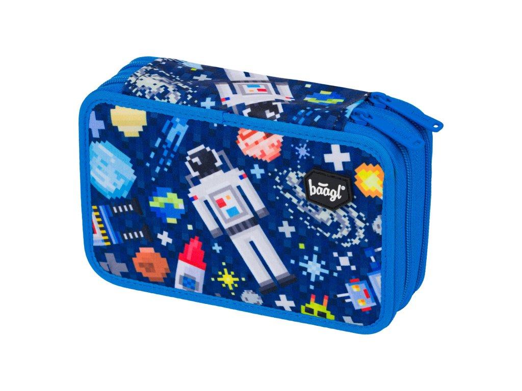 Školní penál dvoupatrový - Space Game