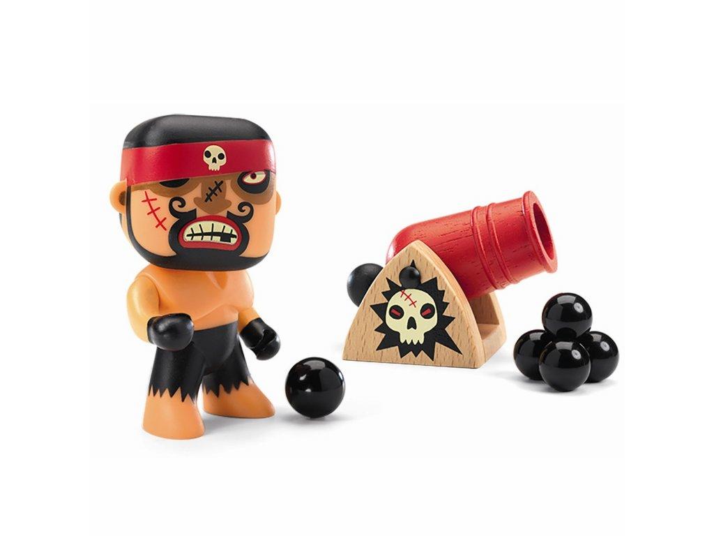 Pohyblivá figurka - Pirát Rick s kanónem