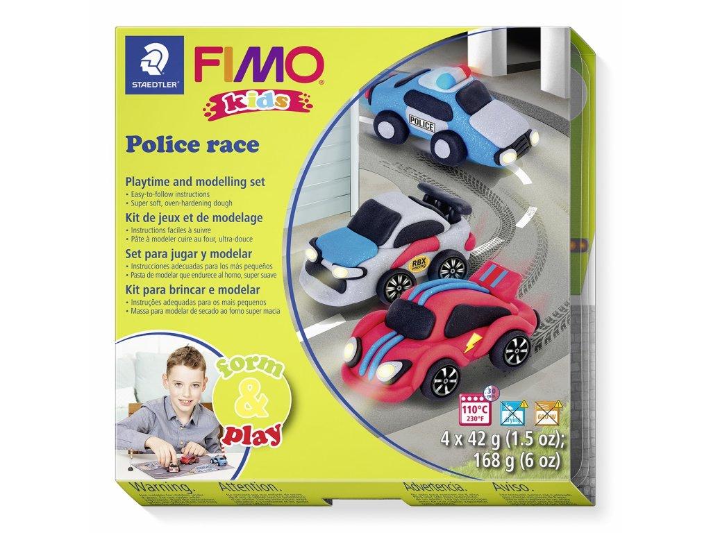 Sada Fimo kids Form & Play POLICEJNÍ AUTA