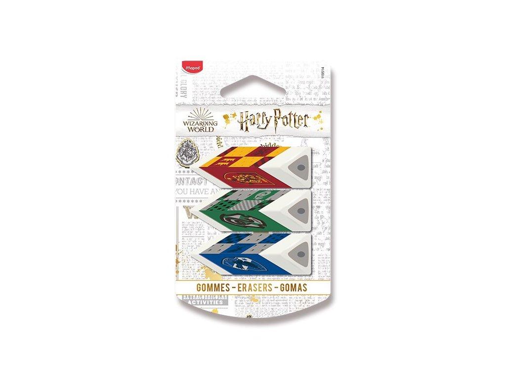 Pryž Maped Pyramide Harry Potter - 3 ks