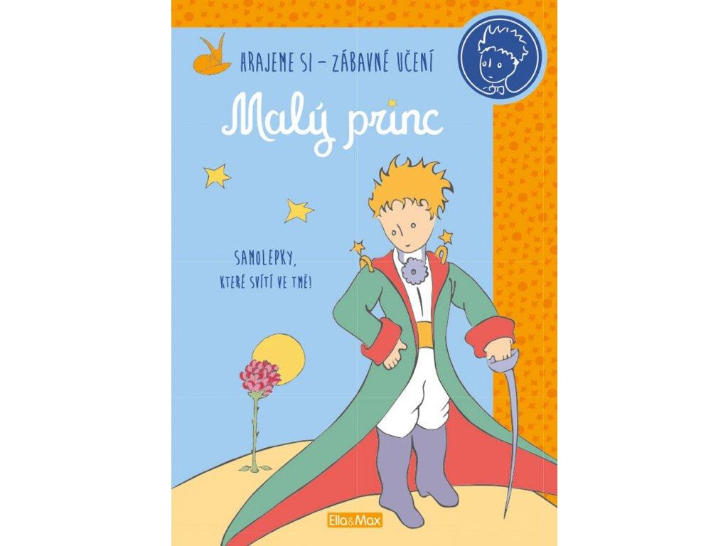 MALÝ PRINC – Kniha aktivit oranžová + svítící samolepky