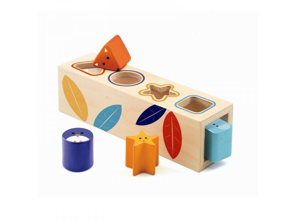 DJECO Vkládací tvary - Barvená zvířátka