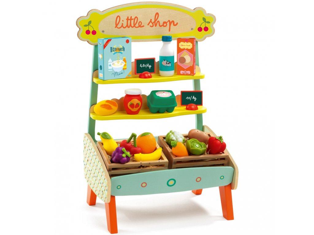 DJECO Dřevěný stánek s ovocem a zeleninou