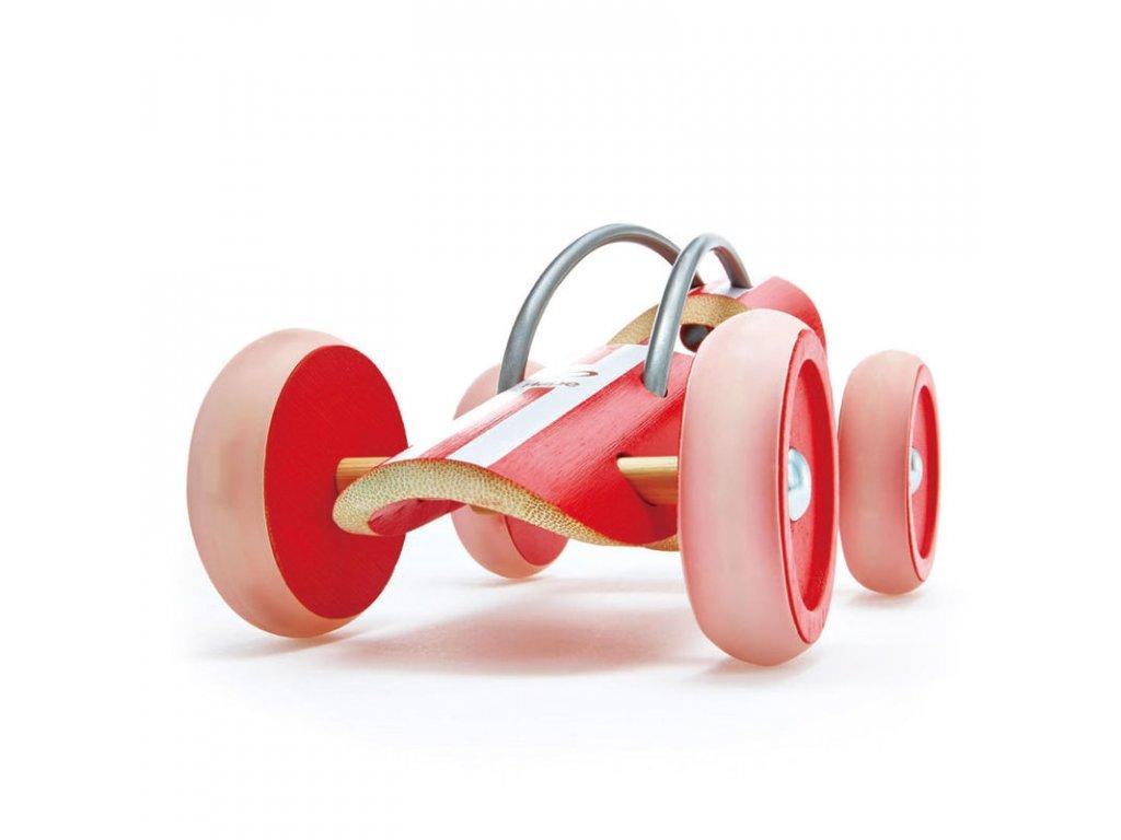 HAPE Dřevěné závodní autíčko e-Racer Monza červené