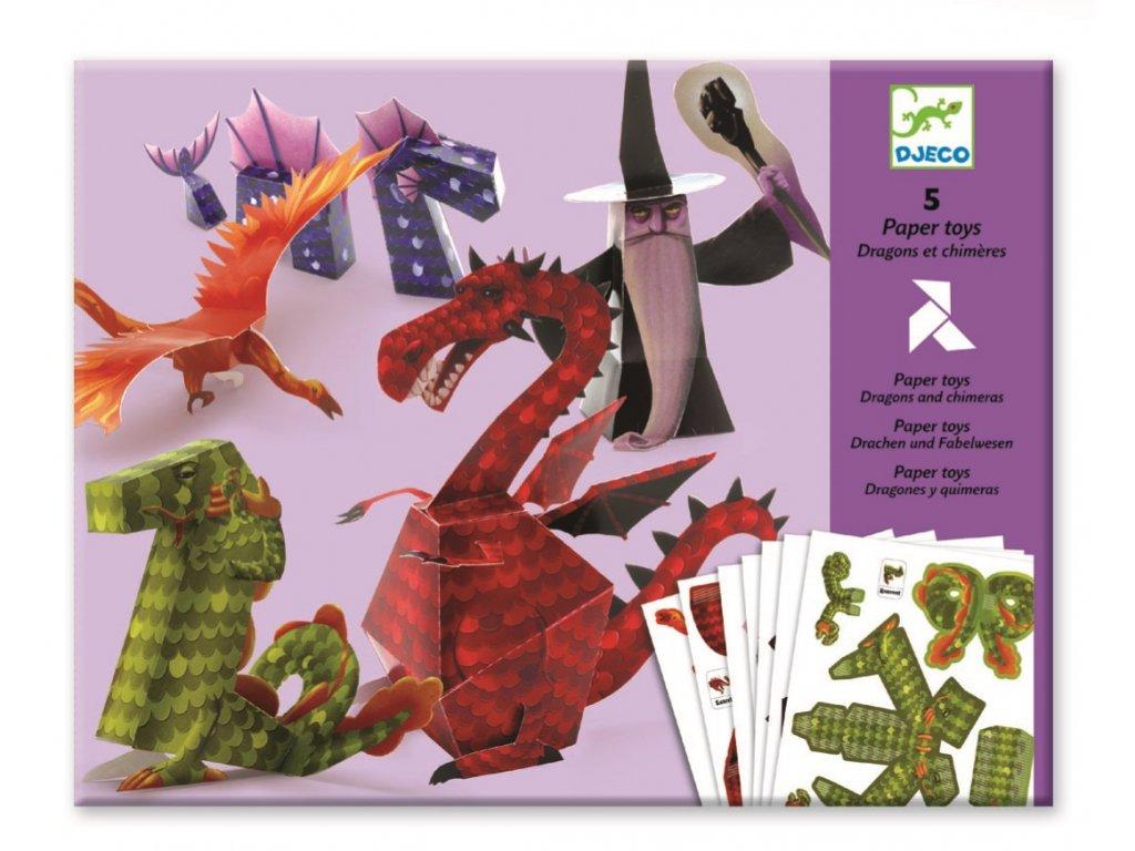 DJECO Origami skládačka - Draci a chiméry