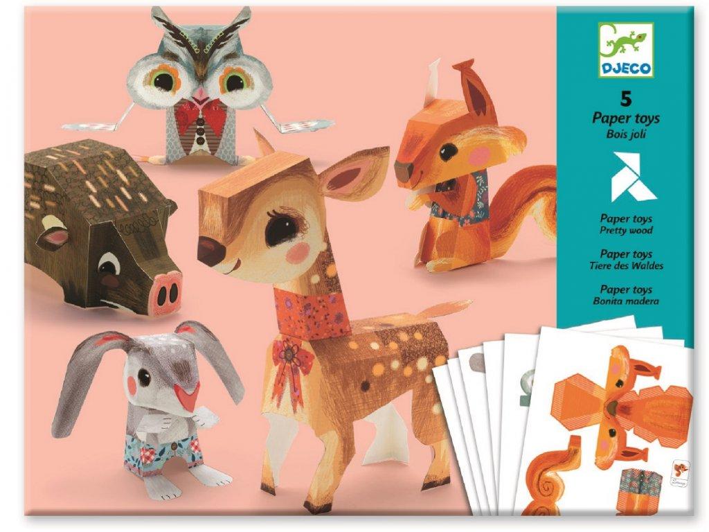 DJECO Origami skládačka - Lesní zvířátka
