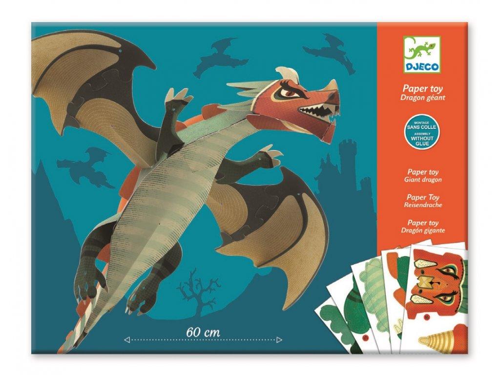 DJECO Origami skládačka - Velký drak
