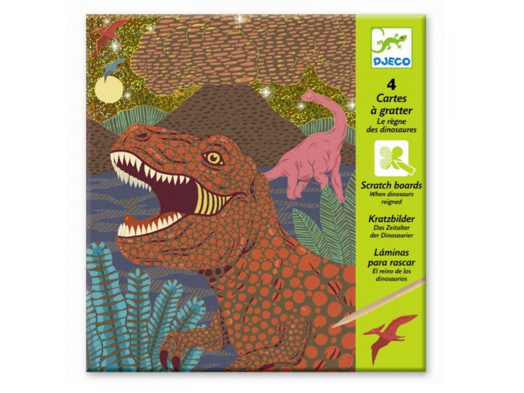 DJECO Vyškrabávací obrázky - Dinosauři