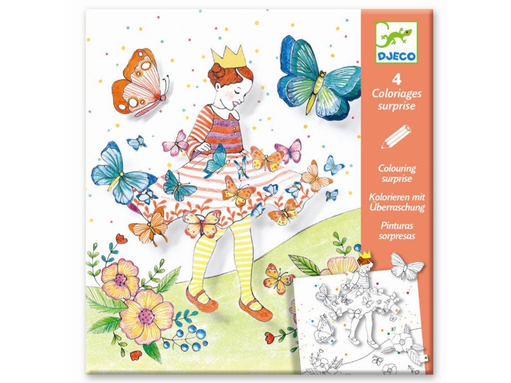 DJECO 3D omalovánky - Motýlí princezna