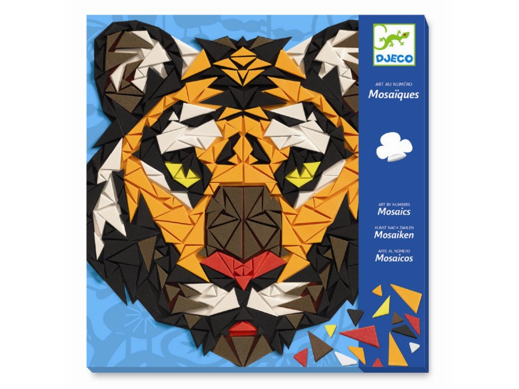 DJECO Kreativní sada - Mozaika - Tygr a gorila