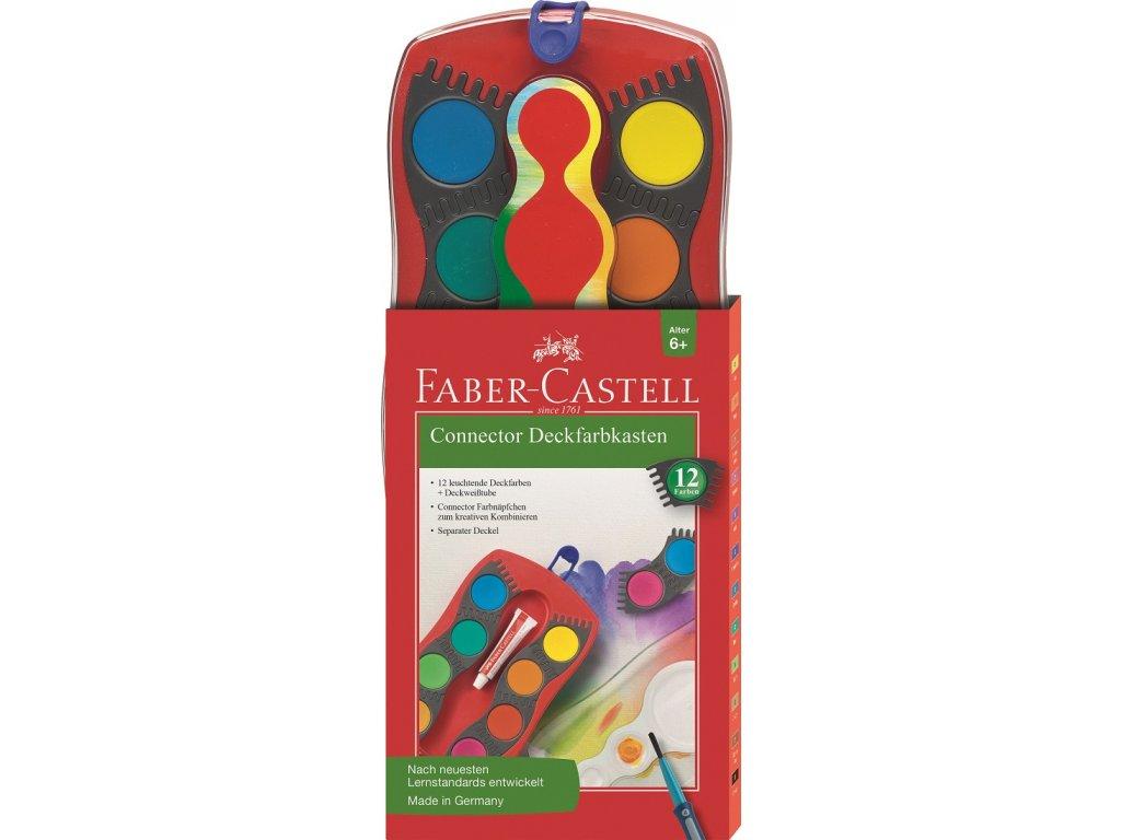 Faber-Castell Vodové barvy CONNECTOR - 12 barev