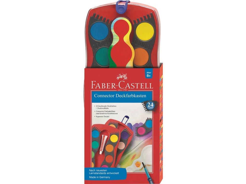 Faber-Castell Vodové barvy CONNECTOR - 24 barev