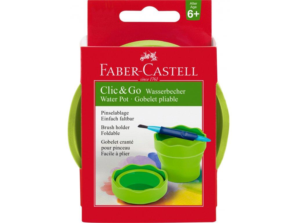 Faber-Castell CLIC&GO kelímek na vodu, světle zelená