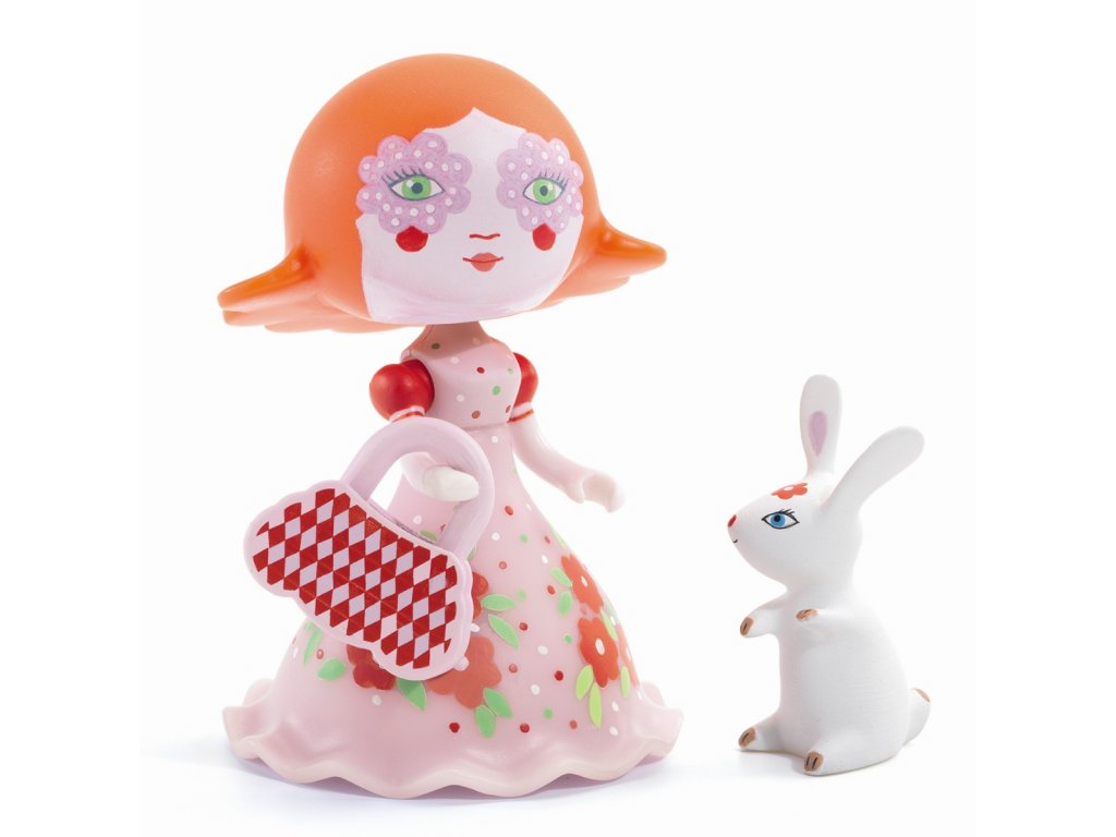 DJECO Pohyblivá figurka - Elodie s králíčkem