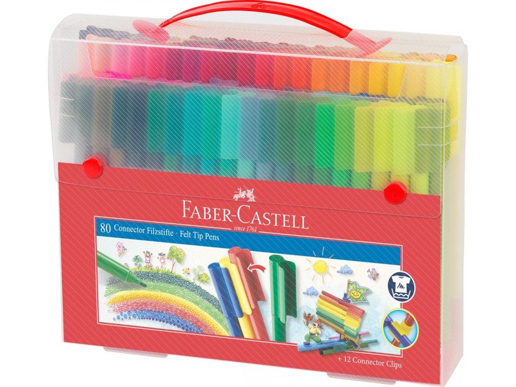 Faber-Castell Popisovače CONNECTOR plastová taška 60ks