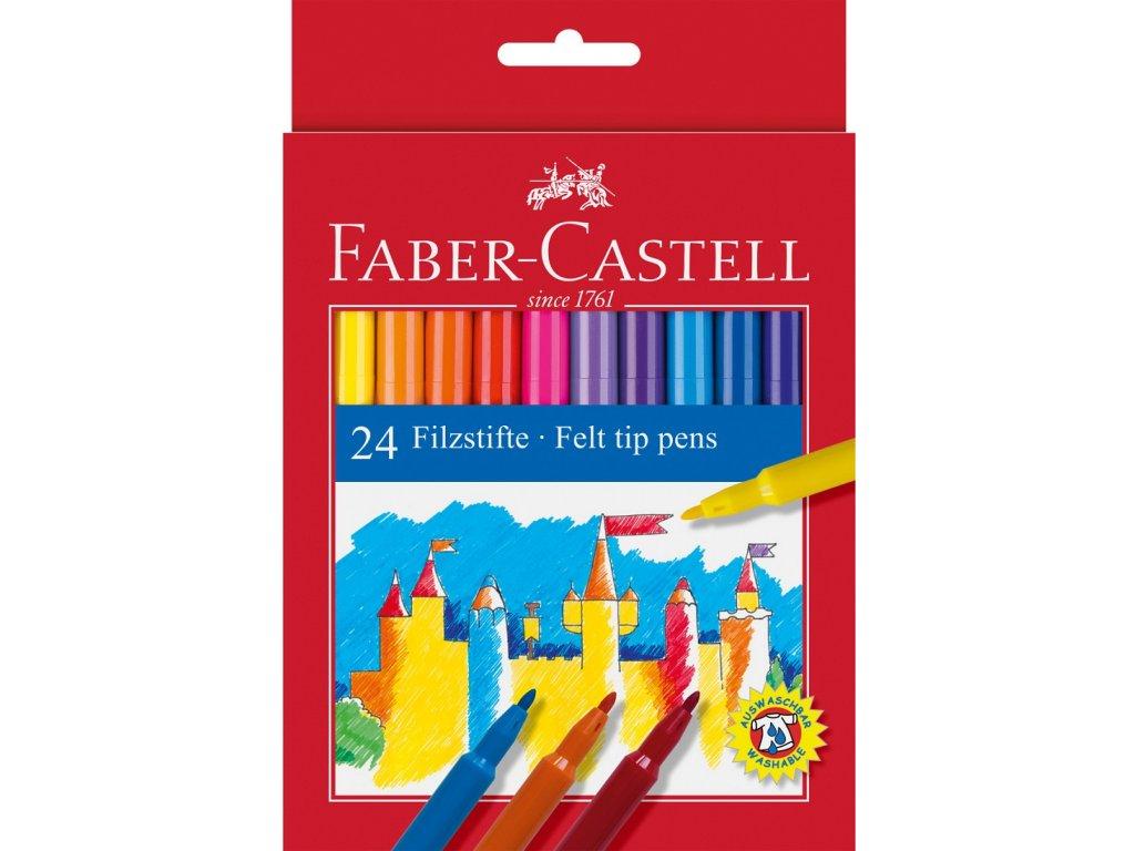 Faber-Castell Popisovače kulaté, pap.krabička 24ks