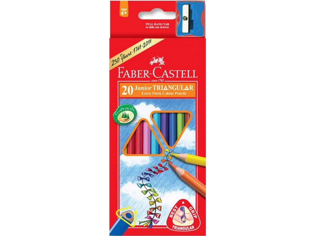 Faber-Castell Pastelky tříhranné JUMBO, pap.krabička 20ks