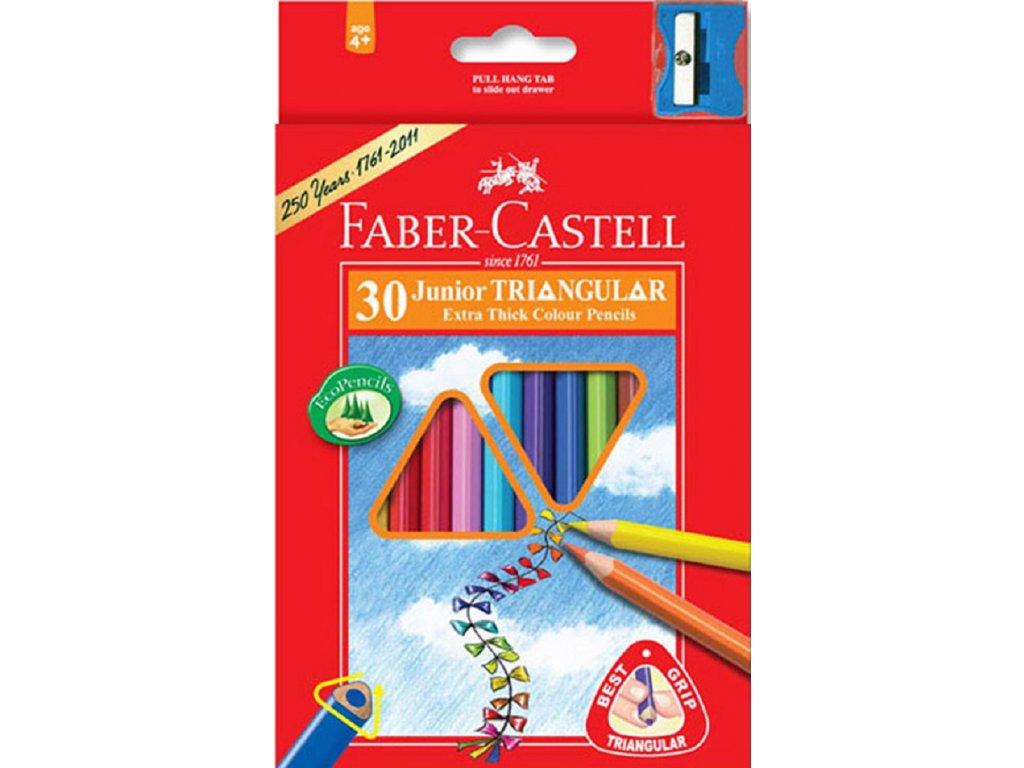 Faber-Castell Pastelky tříhranné JUMBO, pap.krabička 30ks