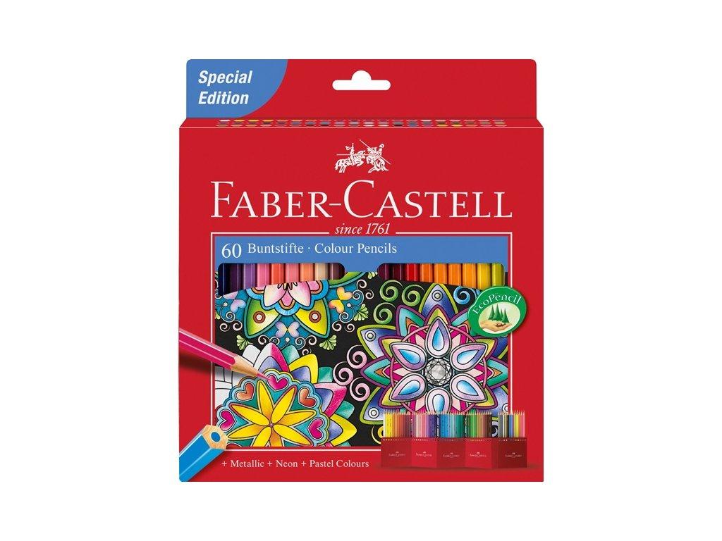 Faber-Castell Pastelky šestihranné, pap.krabička 60ks