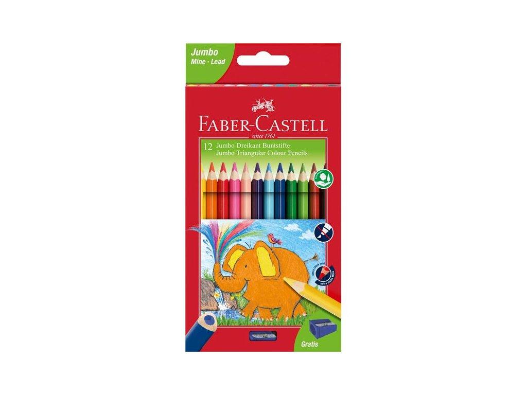 Faber-Castell Pastelky tříhranné EXTRA JUMBO, pap.krabička 12ks