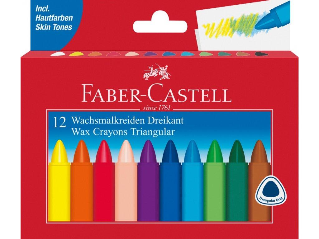 Faber-Castell Voskovky trojhranné pap.krabička 12ks