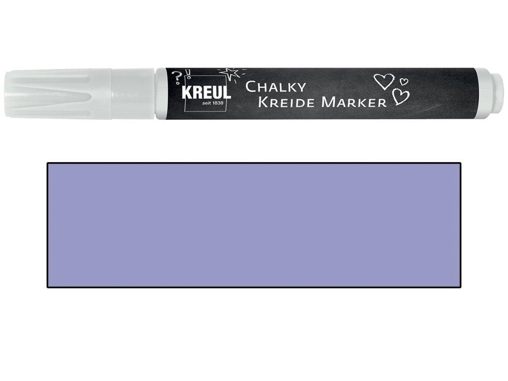 Křídový marker KREUL Medium tmavě levandulová