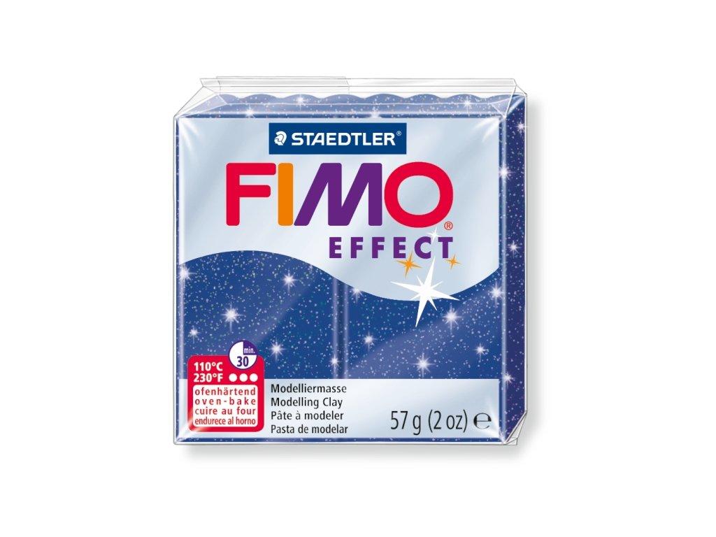 STAEDTLER FIMO efekt modrá se třpytkami 57g