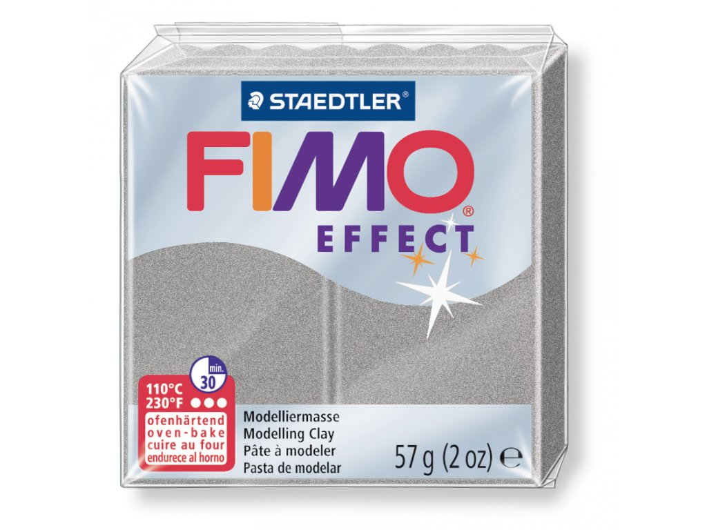 STAEDTLER FIMO efekt stříbrná perleťová 57g