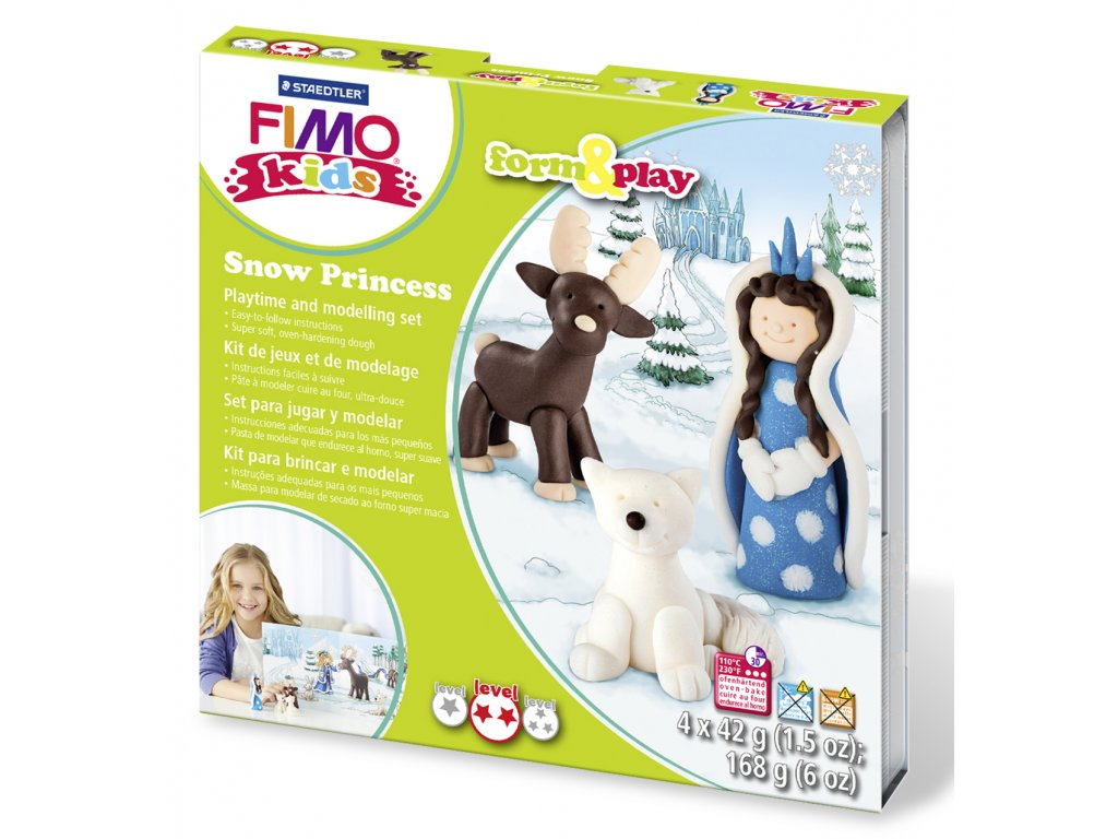 STAEDTLER Sada Fimo kids Form and Play Sněhová princezna