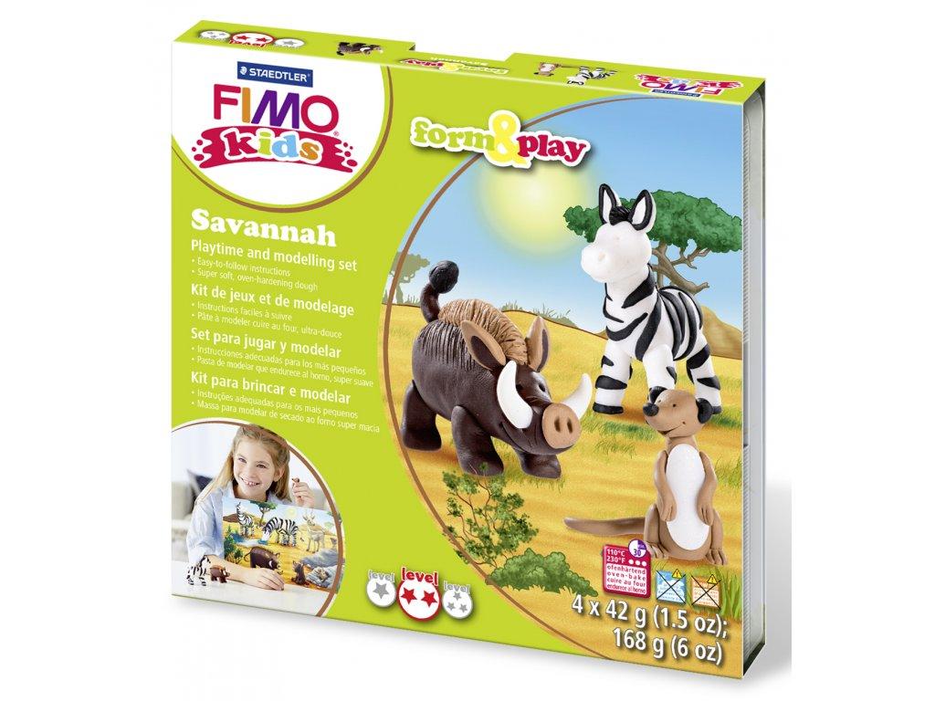 STAEDTLER Sada Fimo kids Form and Play Zvířátka ze Savany