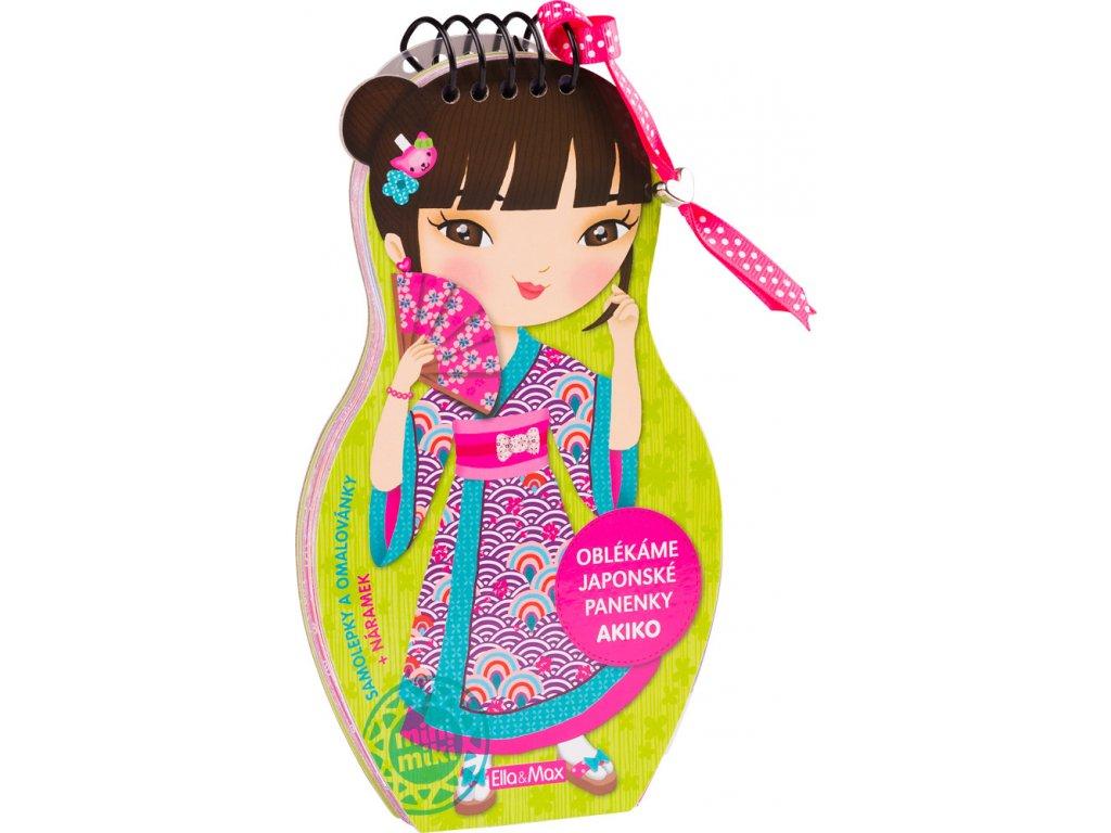 Oblékáme japonské panenky - AKIKO