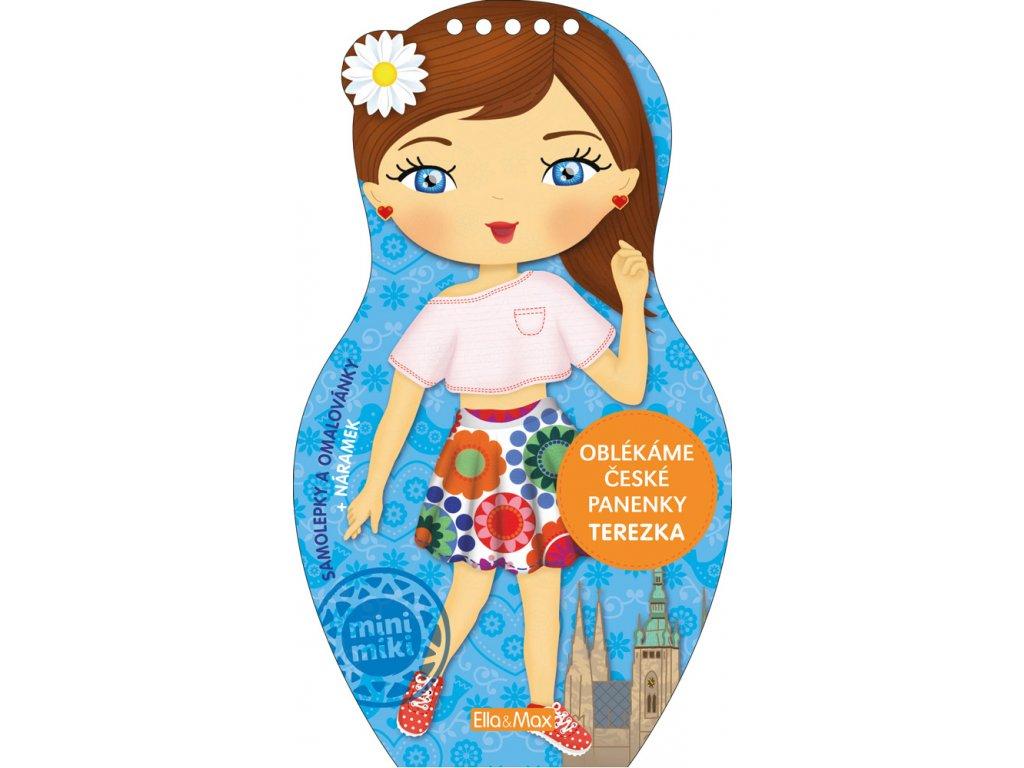 PRESCO GROUP Oblékáme české panenky TEREZKA – omalovánky