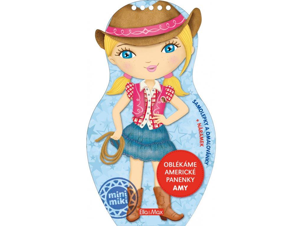 PRESCO GROUP Oblékáme americké panenky AMY - omalovánky
