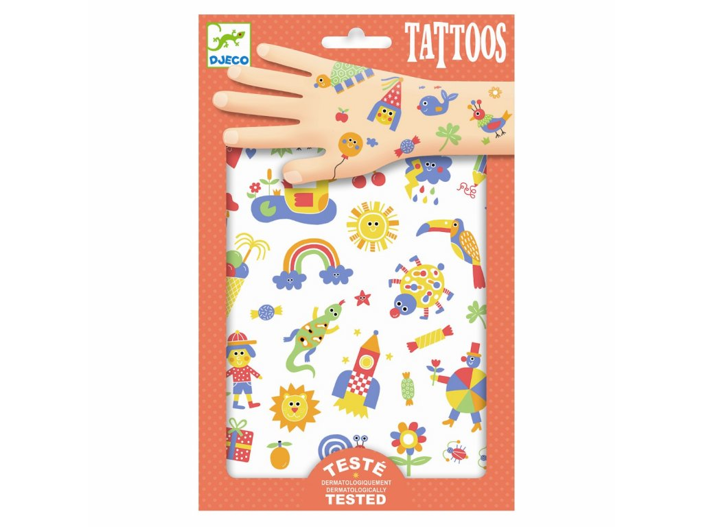 DJECO Tetování - Duhový svět