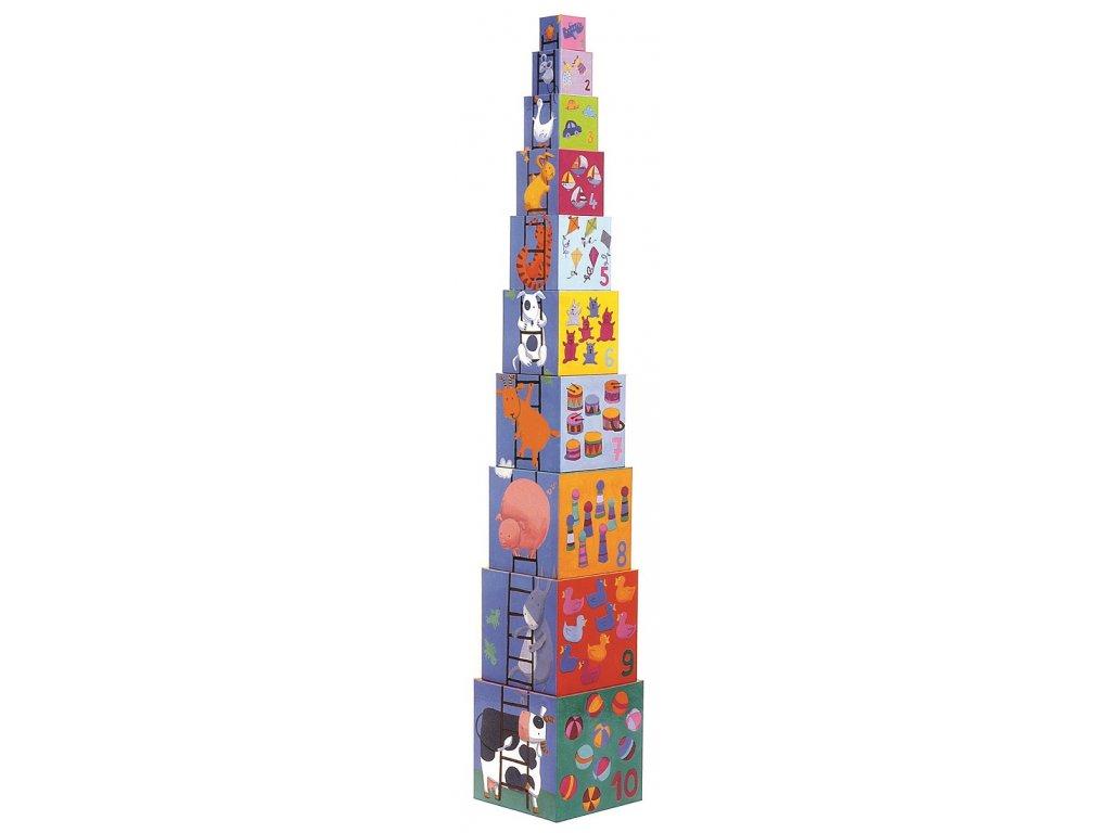 DJECO Krabičková věž - Veselá
